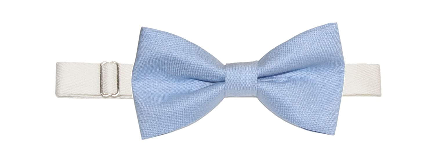 2532f00a384c Men's Cornflower Blue Light Blue Pre-Tied Cotton Bow Tie On Adjustable  Twill Strap at Amazon Men's Clothing store: