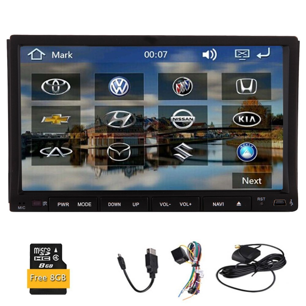 Radio estšŠreo del coche de navegaciš®n GPS de 7 pulgadas 2 din Mapa del coche de Bluetooth DVD de všªdeo Reproductor de CD Sistema GPS tarjeta de mš®dem de ...
