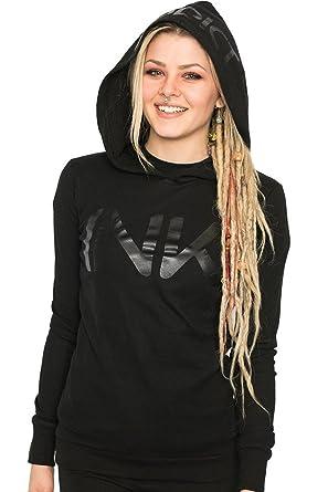 8541b80c150c InkAddict Ink Black Collection Thermal Hoodie at Amazon Women s ...