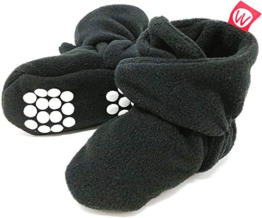 Wrapables Fleece Baby Booties with
