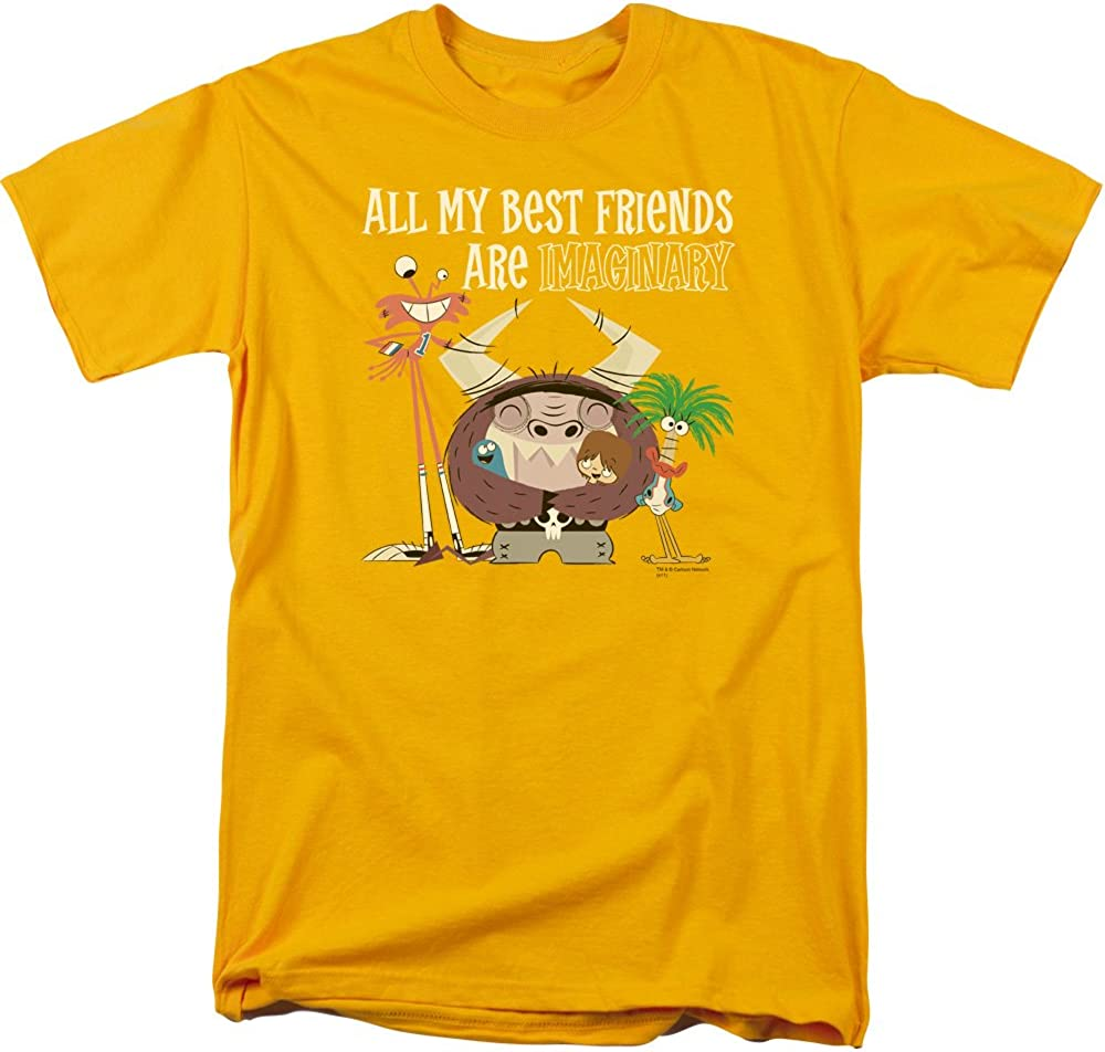 Trevco Men's Fosters Home for Imaginary Friends Blue Face T-Shirt
