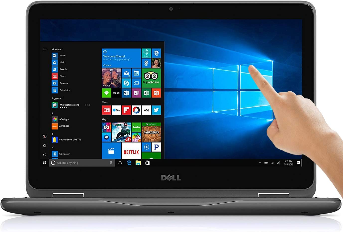 Dell Inspiron 11.6 inch Touchscreen 360 Convertible 2 in 1 Laptop, 11.6 HD (1366 x 768) Display, AMD A9-9420e 2.6GHz, 4GB DDR4 RAM, 500GB HDD, AMD APU, Windows 10
