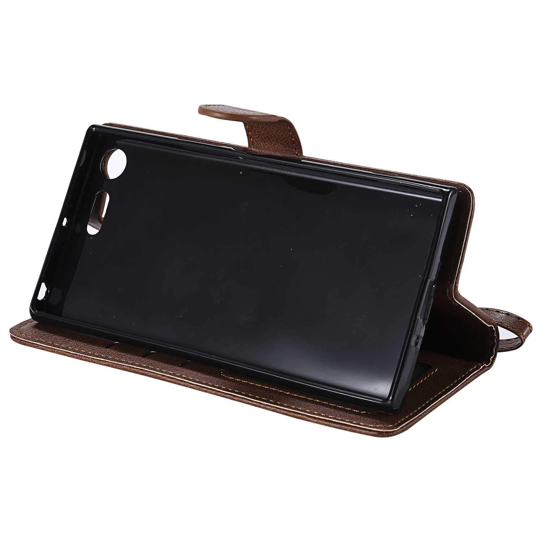 Flip Leder Handyh/ülle Tasche mit Kartensfach Blau TPU Innere Ledertasche 360 Grad Voll Schutz Bear Village/® H/ülle f/ür Sony Xperia XZ Premium