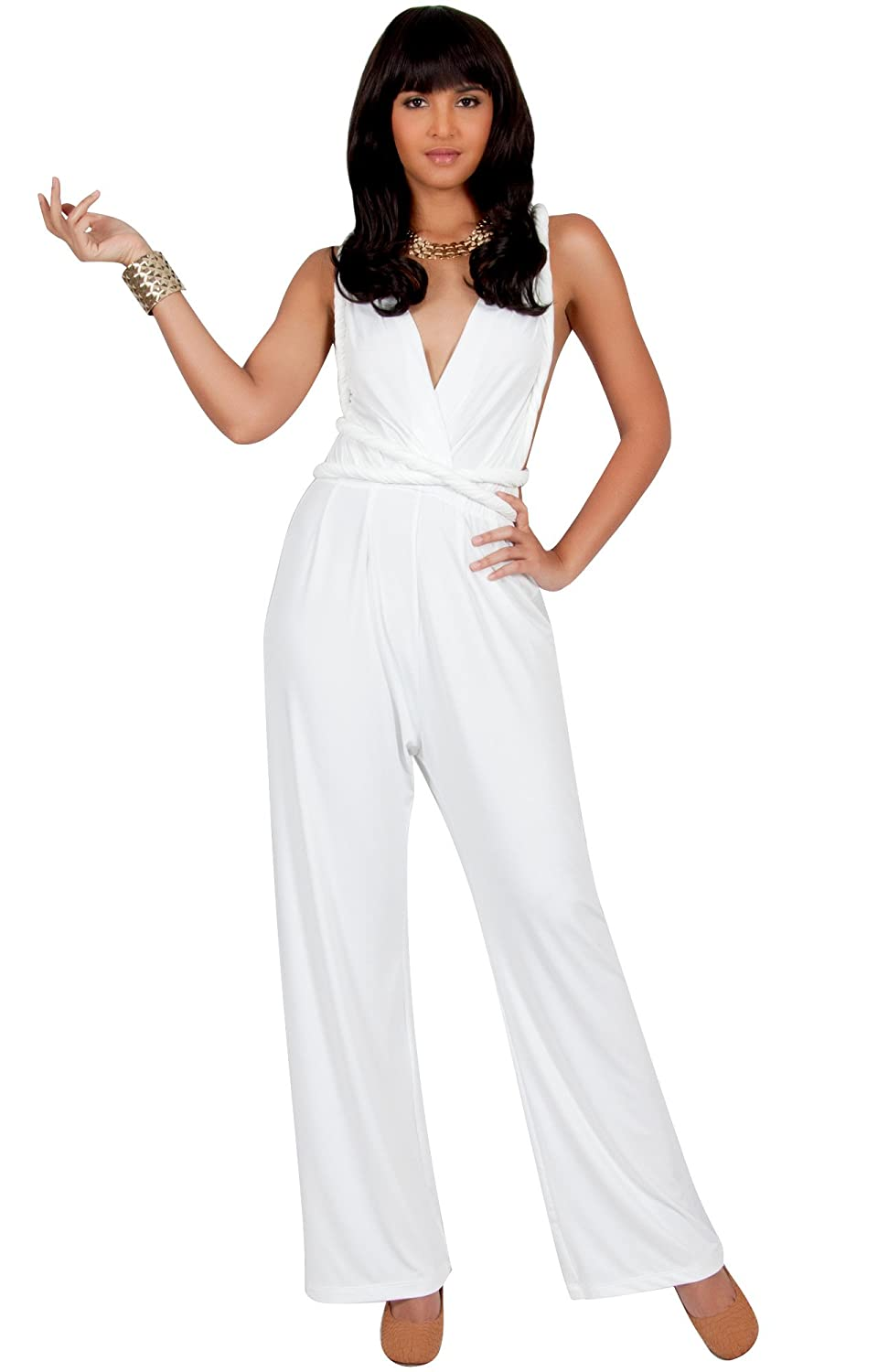 5a331cebf2d9 PLUS SIZE - This great jumpsuit design also makes a beautiful plus size  jumpsuit or plus size romper. STYLE - Comfortable and loose fitted infinity  wrap ...