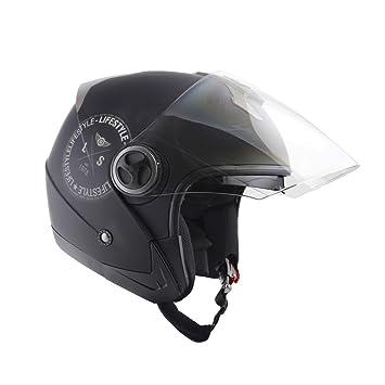 Lifestyle – Casco Jet Moto Scooter Ciudad ls-270 con doble pantalla solar para hombre