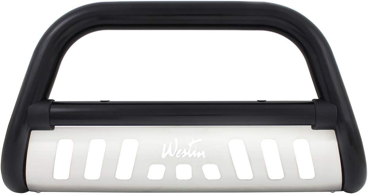 Westin 32-1975 Ultimate Black Powdercoated Stainless Steel Grille Guard
