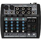 Wharfedale Pro Connect 802 USB Mixer Professionale a 6 Canali per karaoke, studio, live, ecc..