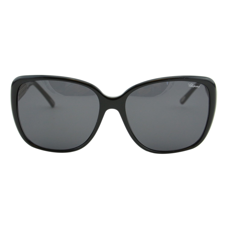 Chopard Imperiale SCH-184 700 Women Black Silver Metal Detail Square Sunglasses by Chopard (Image #4)