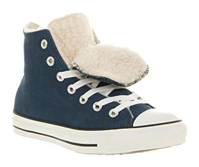 eff6d9e81b01 Converse All Star Hi Double Tongue Ensign Blue Shearling Exclusive - 3.5   Amazon.co.uk  Shoes   Bags