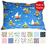 Toddler Pillowcase (14'' x 19'') - 100% Cotton Percale - Envelope Style - Made in Virginia (On The Water)