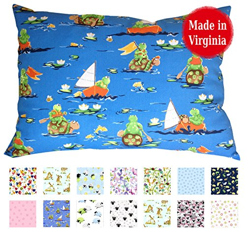 Toddler Pillowcase (14'' x 19'') - 100% Cotton Percale - Envelope Style - Made in Virginia (On The Water) by A Little Pillow Company