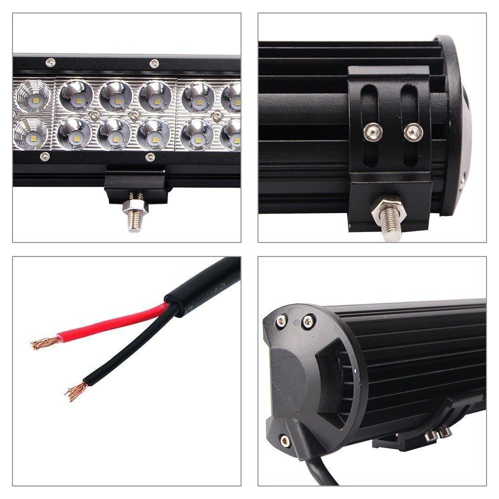 Aaiwa - Barra de luz LED antiniebla con foco, protección IP68 ...