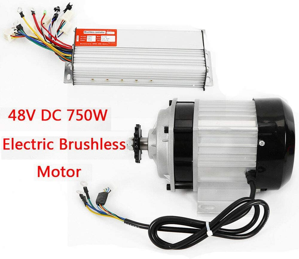 48V DC 750W Electric Brushless Motor w// Controller DIY Quad 14 Tooth Compatible