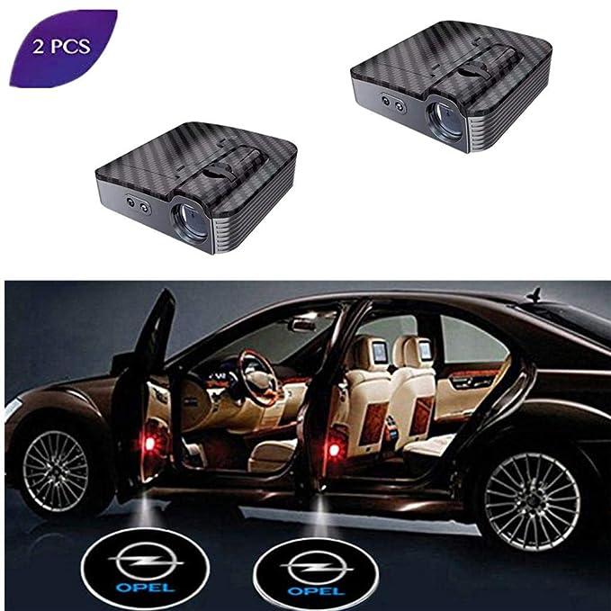 2 Stück Blaues Pferd Wireless Auto Licht LED Tür Car Willkommen Projector Logo