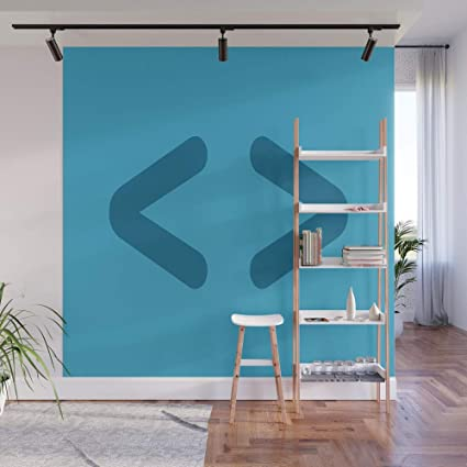 Amazon.com: Society6 Wall Mural, 8' X 8', HTML - Code Icons by ... on button designs, text panel designs, menus designs,