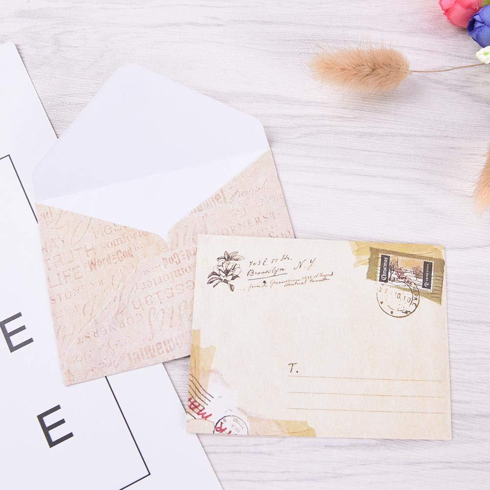 Einladung Hochzeit Geburtstag Party Notes 4 Designs 2 Farben HOSTK Mini Umschl/äge Karten Packung mit 80 niedliche Vintage Kraftpapier