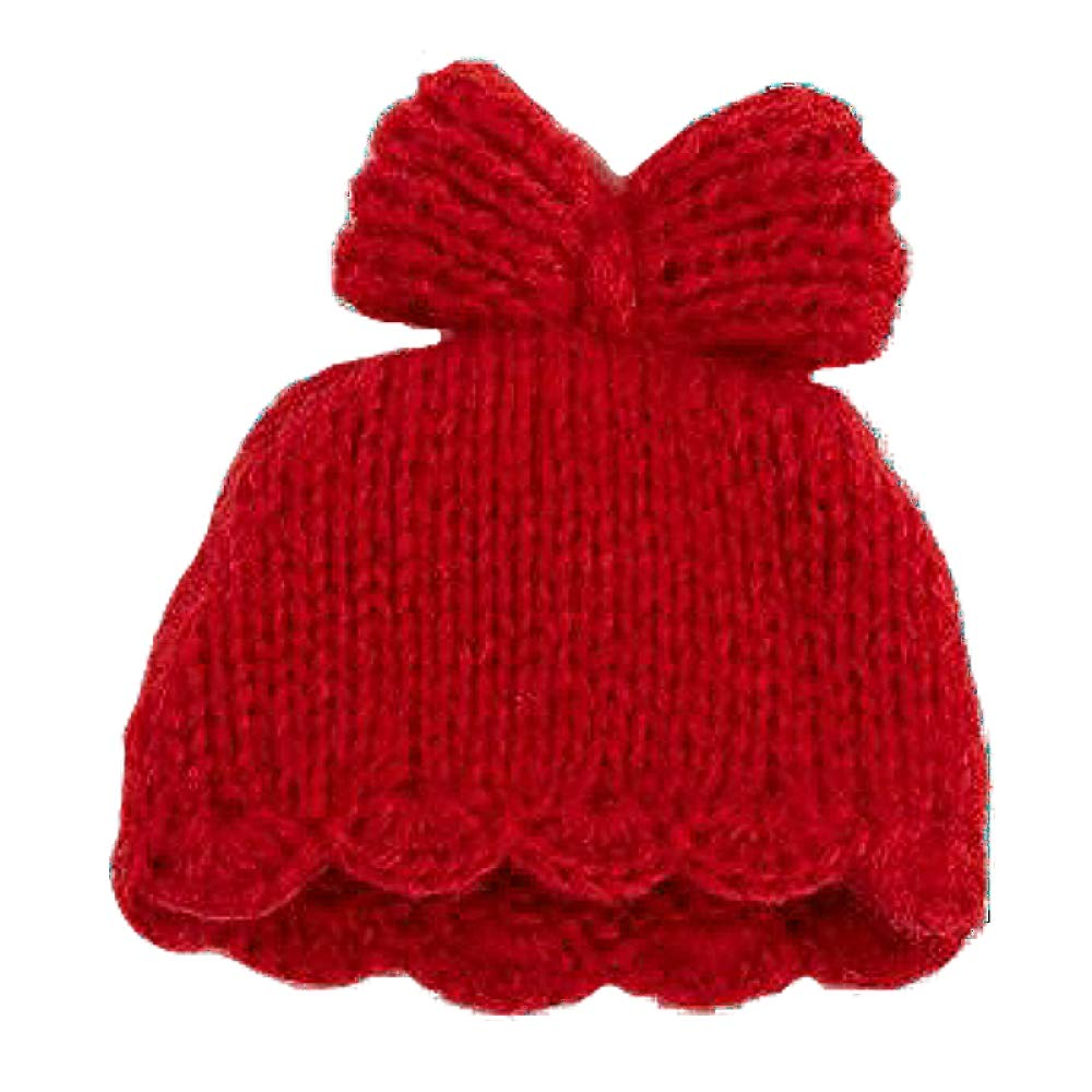 6957fd7e2 Mud Pie Baby Girl Red Knit Bow Hat (newborn: up to 3 months)