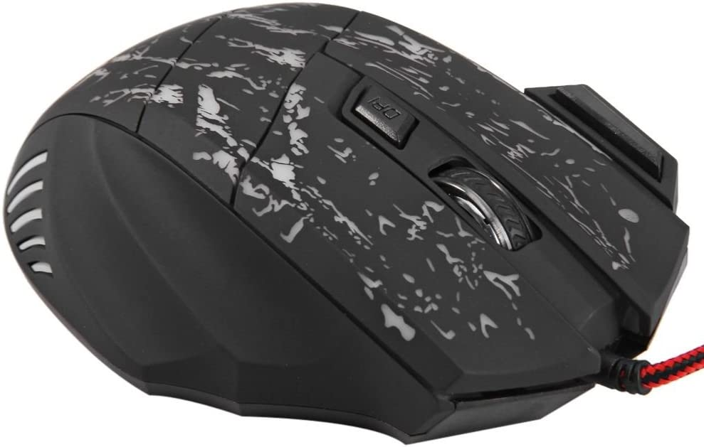 3200DPI 7 Buttons with LED Colorful Breathing Light 2400 1600 VonMu USB Wired Mouse Gaming 1000