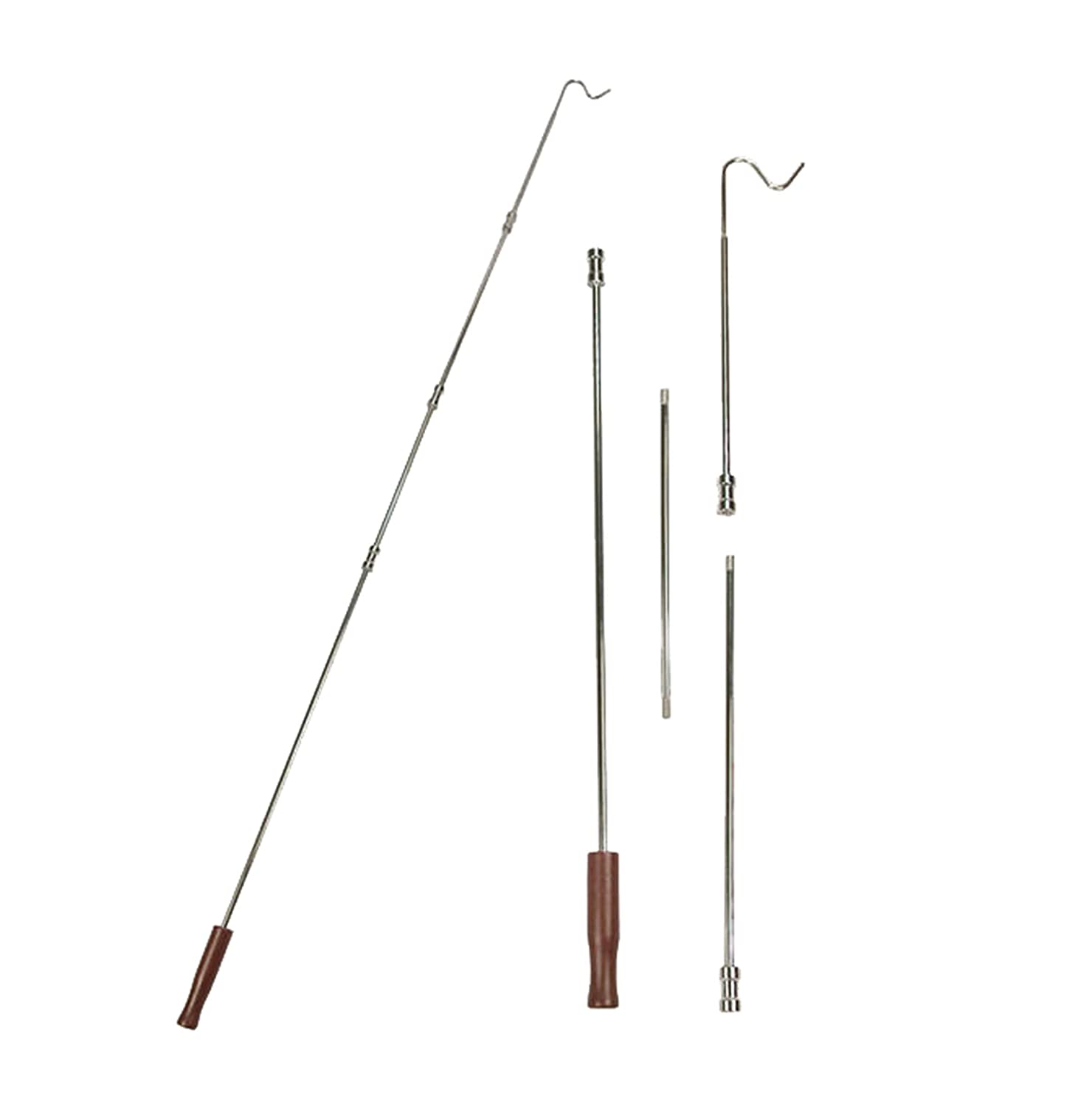 Hanger Retriever With Wood Handle. 1 Two Piece Hanger Reach Pole