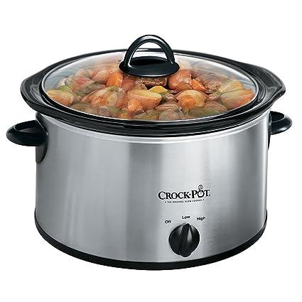amazon com crock pot 3040 bc 4 quart round manual slow cooker rh amazon com White Rival Crock Pot Rival Oval Crock Pot