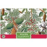 Michel Design Works 25 Count Spruce Paper Placemats, Green