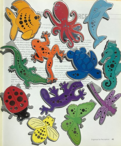 Page Marks (Clip-over-the-page bookmarks) SET OF 12 - Funny Animal Bookmark Set - Ideal for Bookworms,Readers Gifts for Children, Boys, Girls, Teens and kids of all ages will love our designs!]()