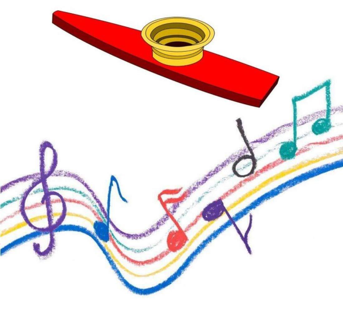Premio y Favores de Fiesta 10 Piezas de Kazoo de Pl/ástico Instrumento Musicales con Diafragmas de Flauta de Kazoo para Regalo 5 Colores