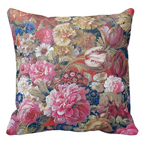 Nineteenth Century French Floral Throw 18*18 pillow Case