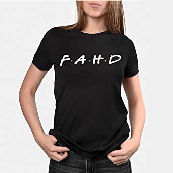 kharbashat Fahd T-Shirt for Women, Size S, Black