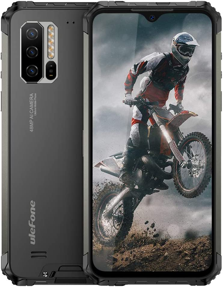 Ulefone Armor 7 (2020) Rugged Cell Phones Unlocked, Android 10 Octa-Core 8GB+128GB ROM IP68 Waterproof Smartphone, 48MP Triple Rear Camera, 6.3