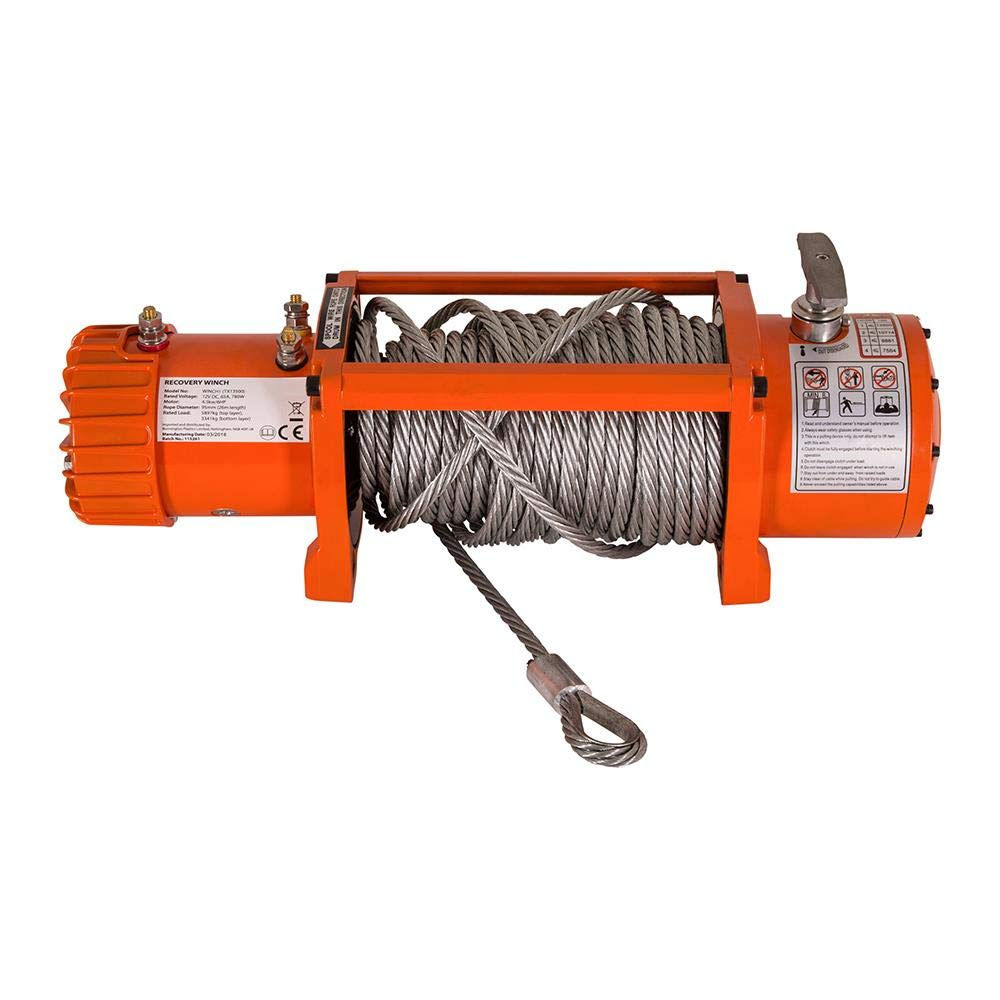 Wido 12V ELECTRIC CAR WINCH 13000LBS 6HP 26M CABLE WIRELESS RECOVERY CARAVAN TRAILER