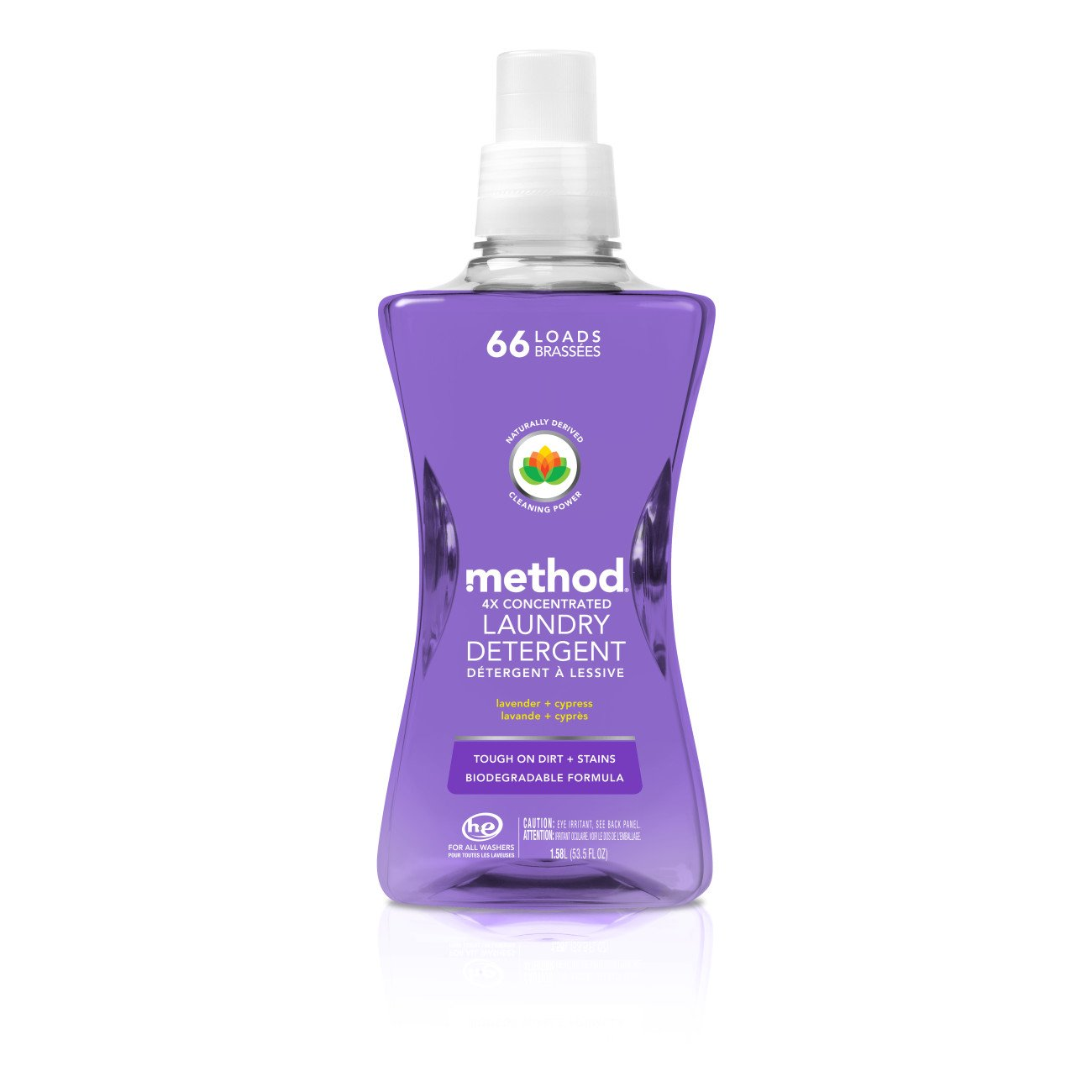 Method Concentrated Laundry Detergent, Lavender + CypressScent,66 Loads, 53.5 Ounce