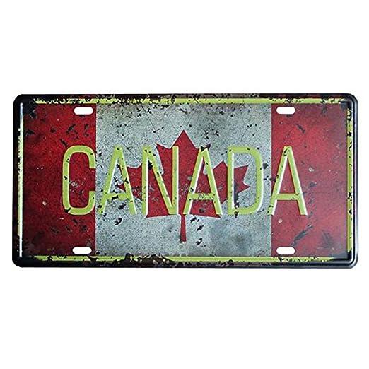 eureya Canadá Auto de la matrícula coche etiqueta Home/Cafe Bar ...