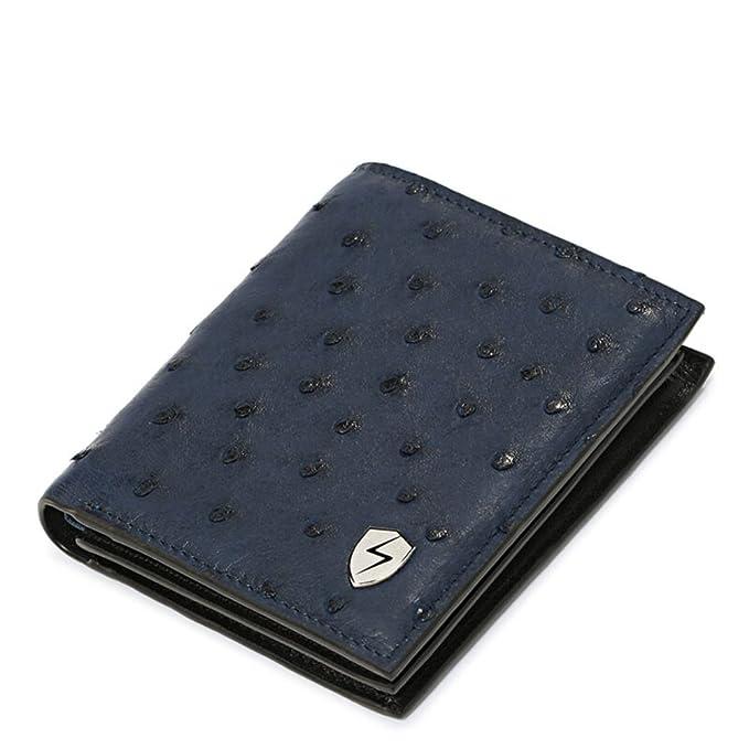 Amazon.com: Bloqueo RFID portafolios de piel auténtica ...
