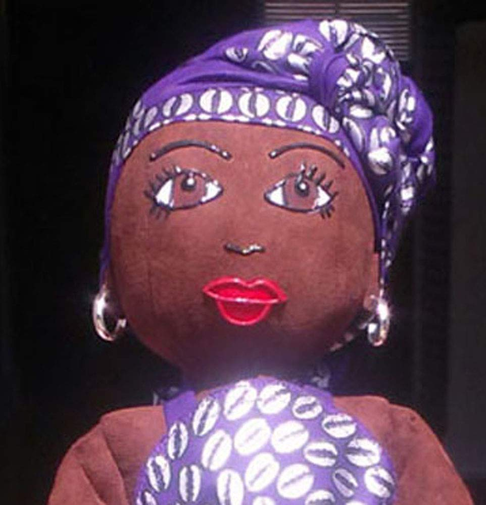 Collectible Doll Ethnic Doll Hand Painted African Inspired Head Wrap African American Doll Handcrafted 14 inch Doll Black Doll