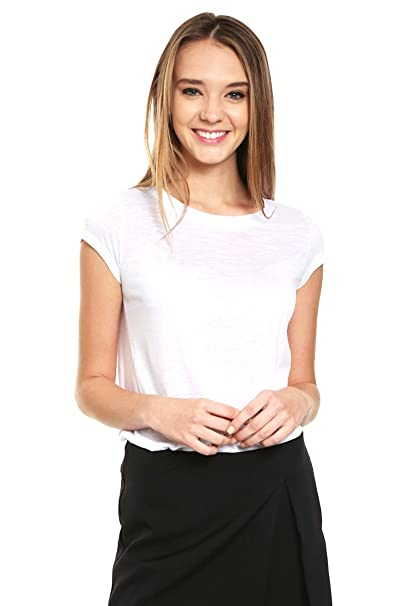 e08ba58e6e3b9 LOB- Playera Blanca Playera para Mujer Blanco Talla 2  Amazon.com.mx ...