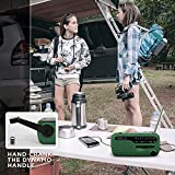 AZDeal Portable Emergency Solar Crank AM/FM/Radio with LED Flashlight Cell Phone Charger Green (DE-13)