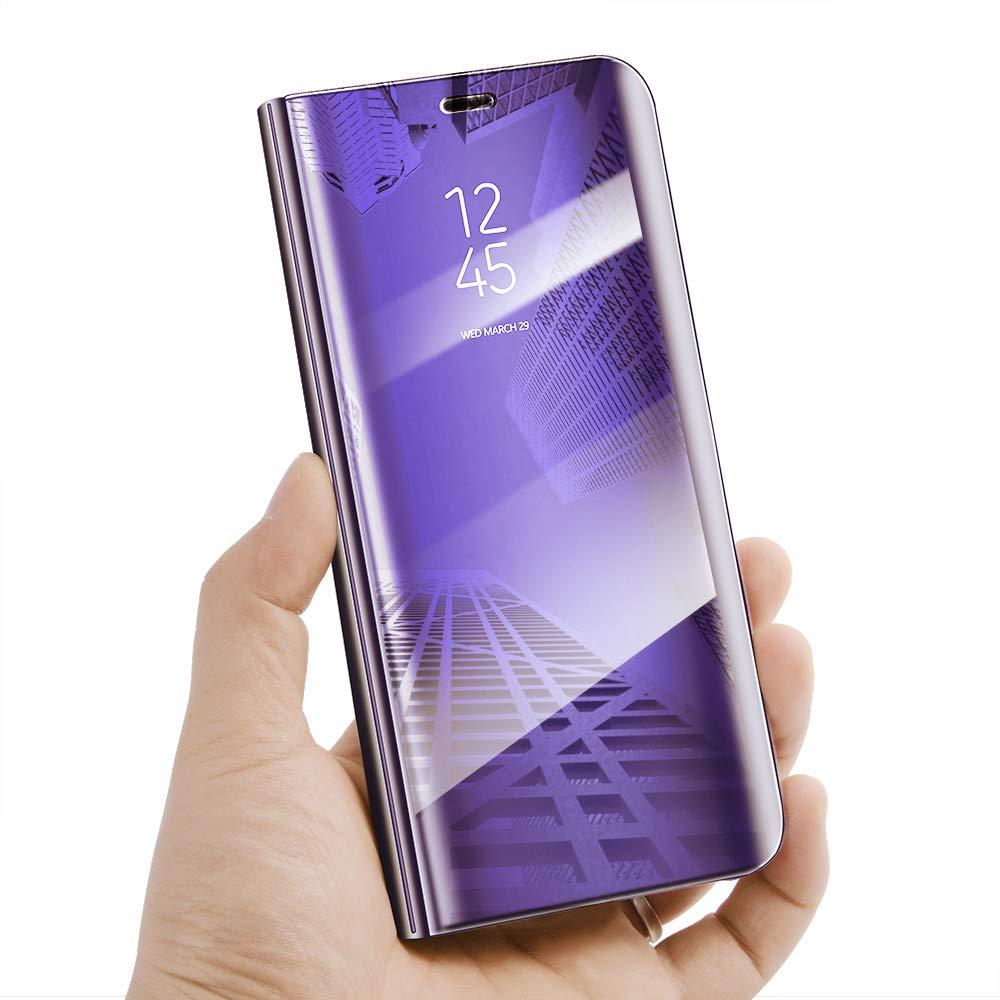 Clear View Standing Cover f/ür das Samsung Galaxy A70 Spiegel Handyh/ülle Schutzh/ülle Flip Cover Schutz Tasche mit Standfunktion 360 Grad h/ülle f/ür Samsung Galaxy A90 Samsung Galaxy A70, Rose Gold