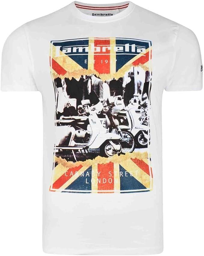 Lambretta - Camiseta - para hombre blanco blanco 4XL: Amazon.es: Ropa y accesorios