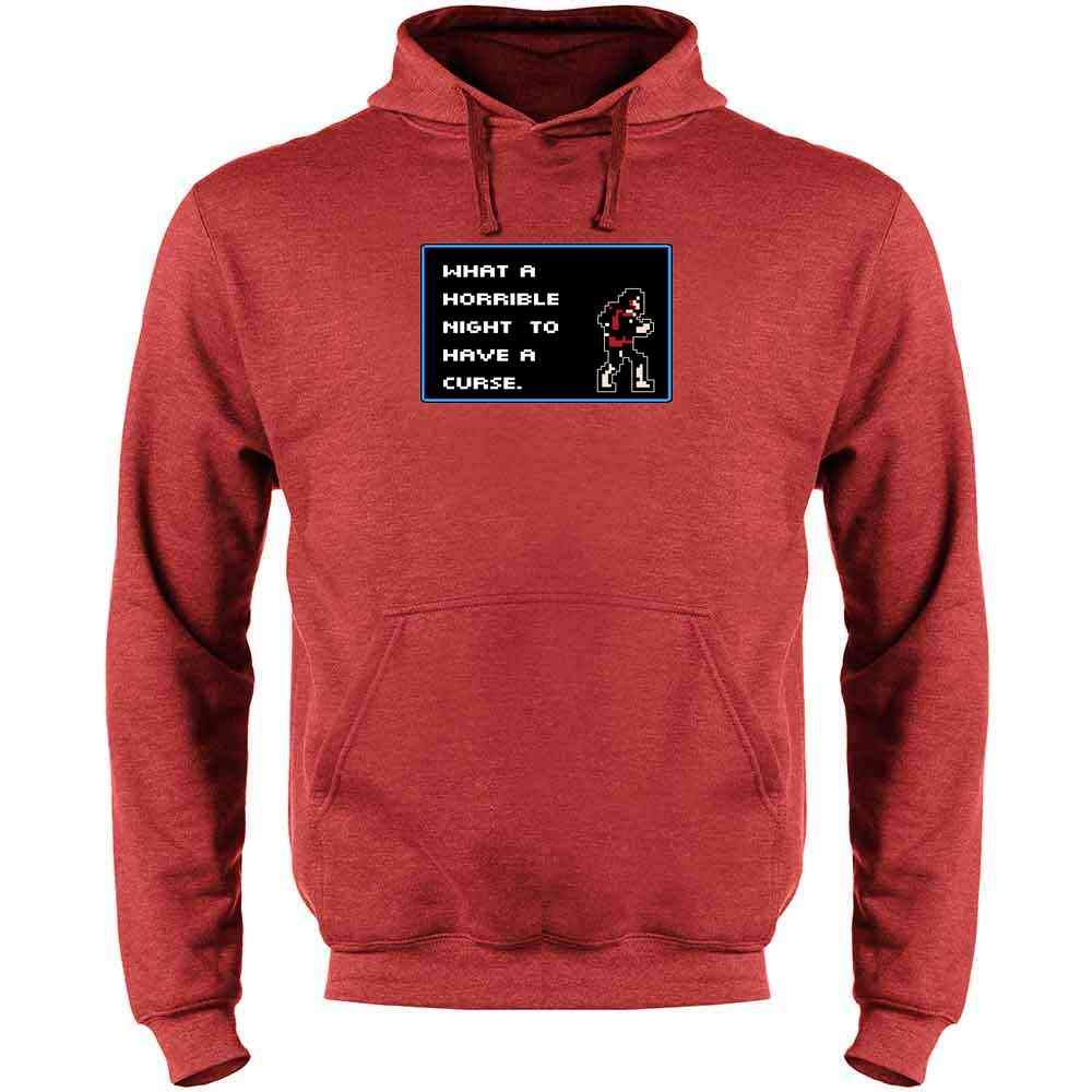 What A Horrible Night to Have a Curse 8 Bit Quote Mens Fleece Hoodie Sweatshirt