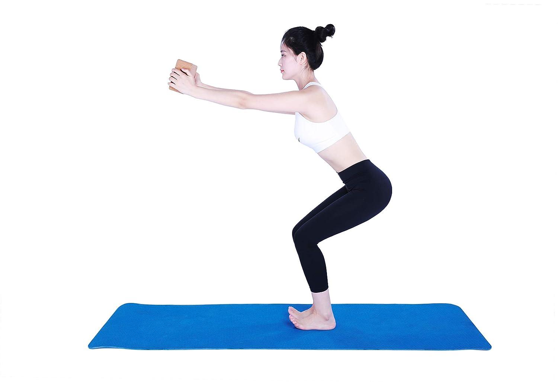 voidbiov Juego de Bloques de Corcho para Yoga 22,5 cm x 14,5 cm x 7,6 cm
