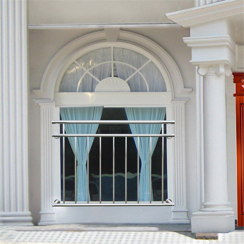 MCTECH/® 184 x 90 cm Edelstahl Franz/ösischer Balkon Gel/änder Balkongel/änder Gel/änder Stabgel/änder