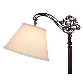 Shade For Floor Lamp: Upgradelights Uno Beige Linen Lamp Shade Floor Lamp Replacement Shade Down  Bridge Shade,Lighting