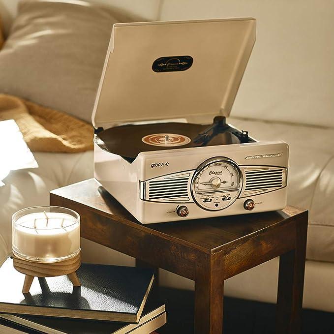 Amazon.com: Groove vinilo Tocadiscos con Radio FM Estilo ...