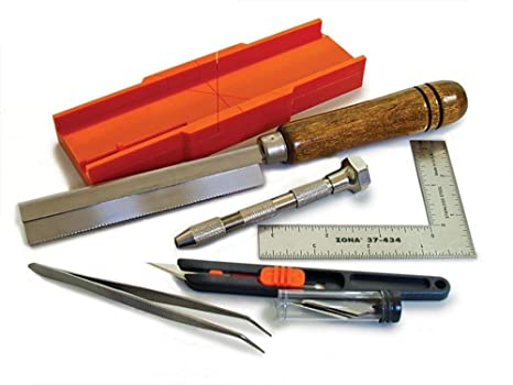 Excel Metal Mitre Box Set Hobby Hand Saw Included Stainless Steel Blade /& Handle
