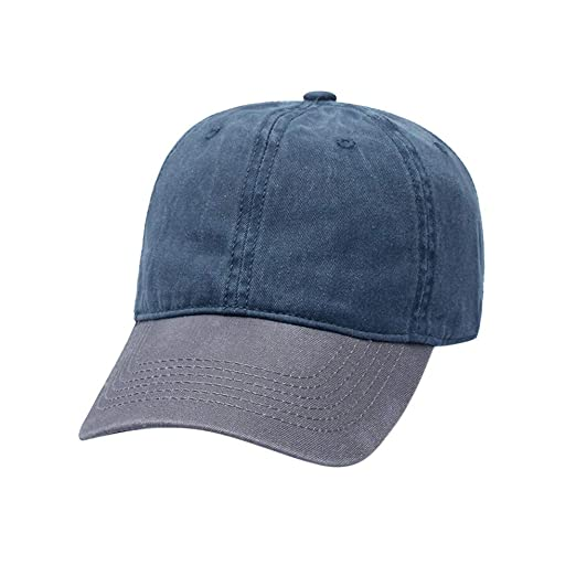 51b44cee Unisex Washed Baseball Cap Vintage Patchwork Twill Cotton Dad Hat Old  School Adjustable Low Profile Snapback Cap (A) at Amazon Women's Clothing  store: