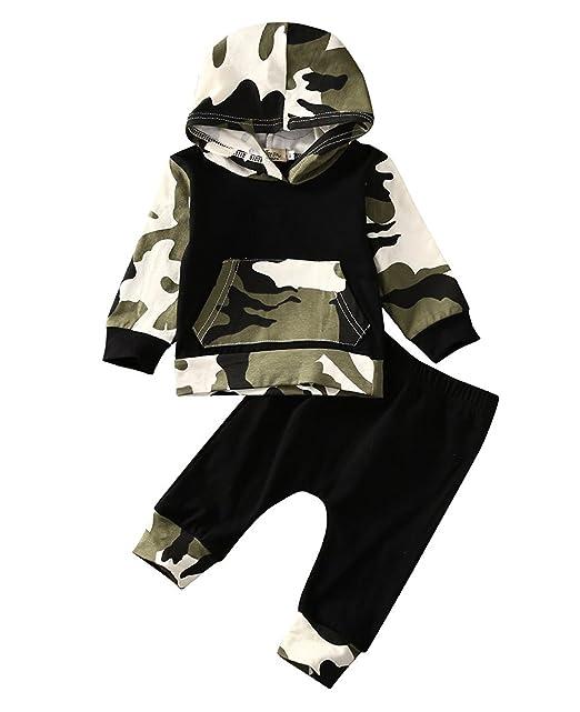 Amazon.com: Conjunto de ropa de camuflaje con capucha y ...