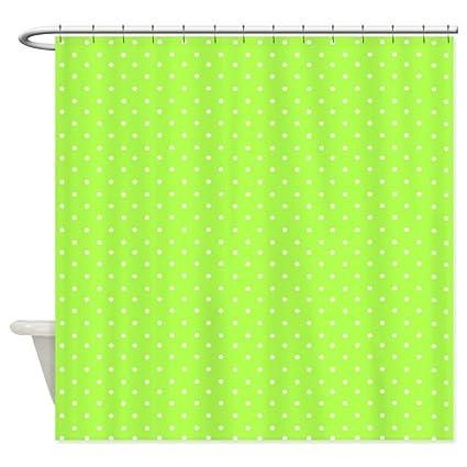 Amazon.com: CafePress - Bright neon green polka dots Shower Curtain ...