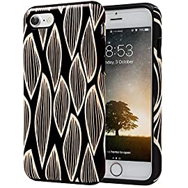 SKINU iPhone 7 Case, Designer Pattern [Shockproof 2 in 1 Hybrid] Rugged [Heavy Duty Combo] [Dual Layer] High Impact… 13 Easy snap-on form-fitted slim and light weight hybrid fashion case Large cutouts fit most cables while protecting the phone and camera Two-part construction of shock-absorbing TPU and durable hard polycarbonate