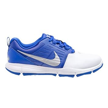cheap for discount 61fbd 2ca73 Buy Nike Explorer SL Spikeless Men s Golf Shoes - White Blue (Size-UK 7.5)  Online at Low Prices in India - Amazon.in